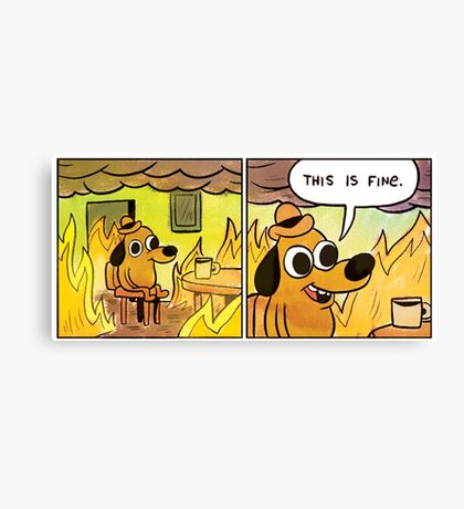 This is fine Canvas Print