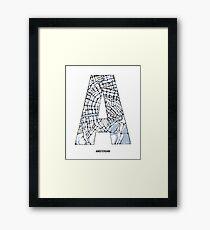 MAPHABET A: Amsterdam Framed Print