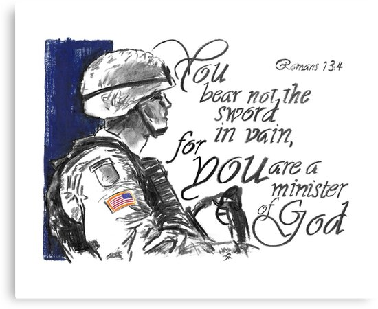 You Bear not the Sword in Vain - U.S. Soldiers by Douglas Rickard