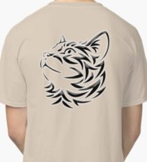 Cat, Tribal Cat, Cat looking Up, Feline, Puss, Pussy Classic T-Shirt
