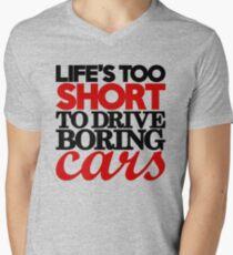 Life's too short to drive boring cars (4) Men's V-Neck T-Shirt