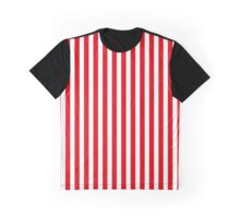 Red Stripes Graphic T-Shirt