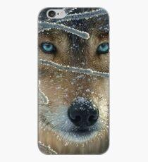 Blue eyed wolf iPhone Case