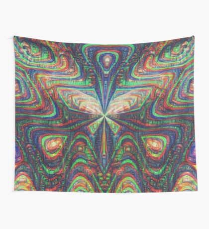 Warrior #DeepDream frequency Wall Tapestry