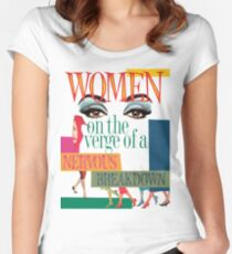 Women on the Verge of a Nervous Breakdown - logo art Women's Fitted Scoop T-Shirt
