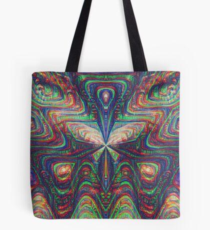 Warrior #DeepDream frequency Tote Bag