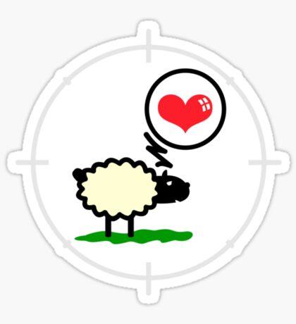 Sheep in Love VRS2 Sticker
