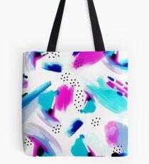 Purple Splash Tote Bag