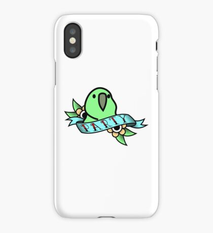 Party Parrot Vintage Tattoo iPhone Case