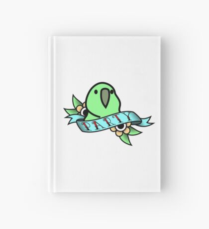 Party Parrot Vintage Tattoo Hardcover Journal