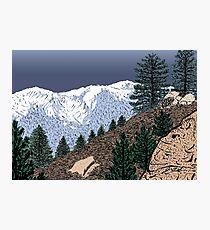Winter Hike Up Twin Peaks Photographic Print