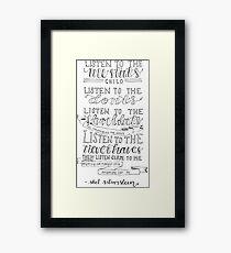 Shel Silverstein Framed Print