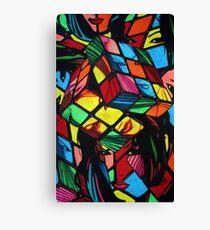 Mad Era Rude B*itch Cube (Rubicks) Canvas Print