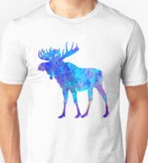 Moose Watercolor Art Unisex T-Shirt