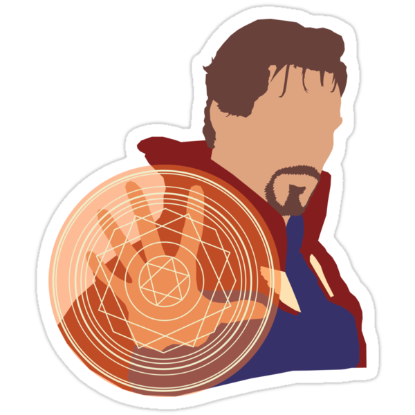 """""""Doctor Strange"""" Stickers by Squidz123 