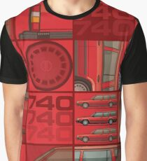 Volvo 740 745 Classic Red Graphic T-Shirt