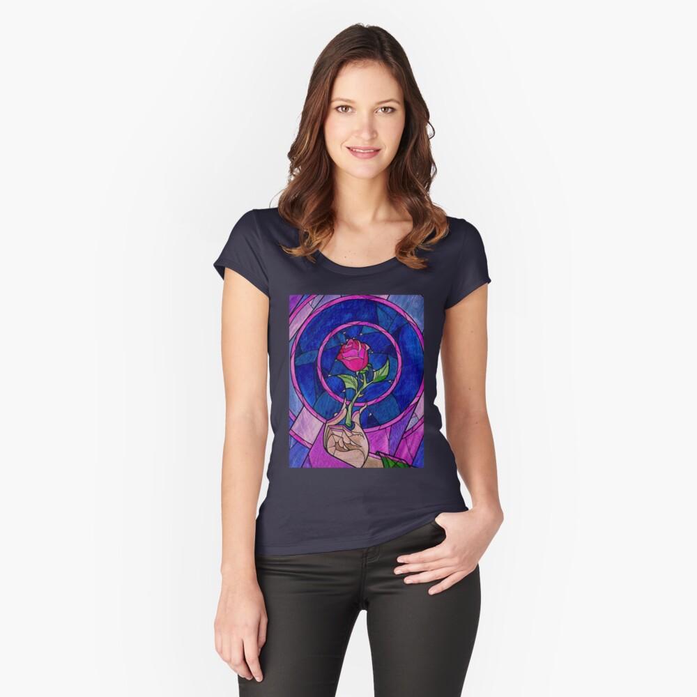 Single Rose Camiseta entallada de cuello redondo