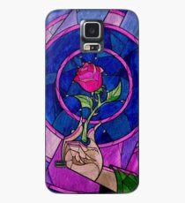Einzelne Rose Hülle & Klebefolie für Samsung Galaxy