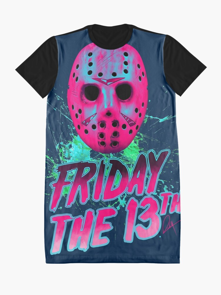 Vista alternativa de Vestido camiseta FRIDAY THE 13TH Neon V