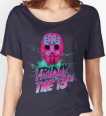 FRIDAY THE 13TH Neon V Women's Relaxed Fit T-Shirt