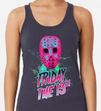 FRIDAY THE 13TH Neon V Racerback Tank Top