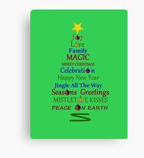 Holiday Tree - Green Canvas Print