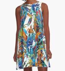 Colorful Lobster Collage Art - Sharon Cummings A-Line Dress