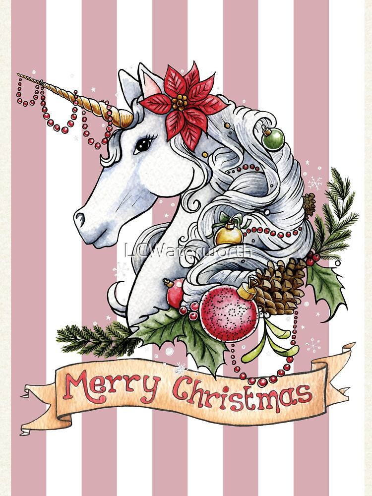 Weihnachts-Einhorn von LCWaterworth