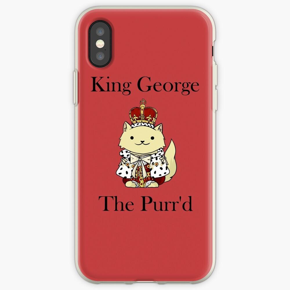 El rey Jorge el Purr'd Funda y vinilo para iPhone