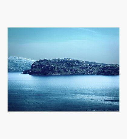Santorini Coast VRS2 Photographic Print