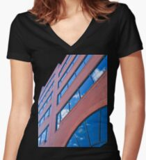 A Vivid Day Reflected  Women's Fitted V-Neck T-Shirt