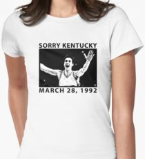Sorry Kentucky - Christian Laettner  Womens Fitted T-Shirt