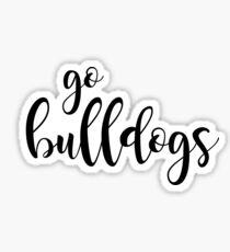geh Bulldoggen Sticker