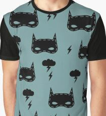 Kids pattern with super hero mask Graphic T-Shirt