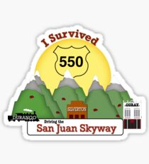 I Survived HWY 550 Durango, Silverton, Ouray Sticker