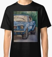 Vintage blue pony car antique muscle Classic T-Shirt