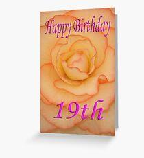 Happy 19th Birthday Flower Greeting Card