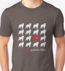 I love my Australian Shepherd - breed dog T-Shirt