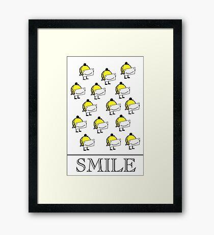 Smile VRS2 Framed Print