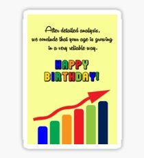 Happy Birthday - Graph Sticker