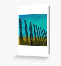 Barriers to the beach Greeting Card