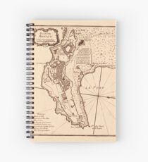 Map Of Monaco 1764 Spiral Notebook