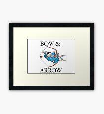 Jiu Jitsu Bow & Arrow Framed Print