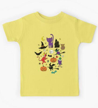 Retro Halloween - original - Halloween pattern by Cecca Designs Kids Clothes