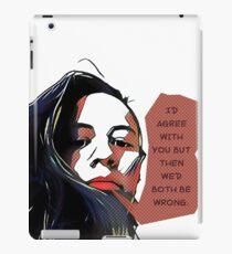 Popart sarcastic quote iPad Case/Skin