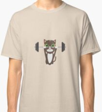 Fitness cat weight lifting   Classic T-Shirt