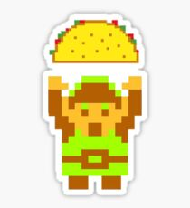 Link and a taco Sticker