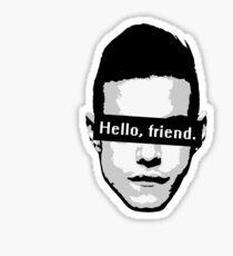 """Elliot Alderson: """"Hello, friend"""" (Mr. Robot) Sticker"""