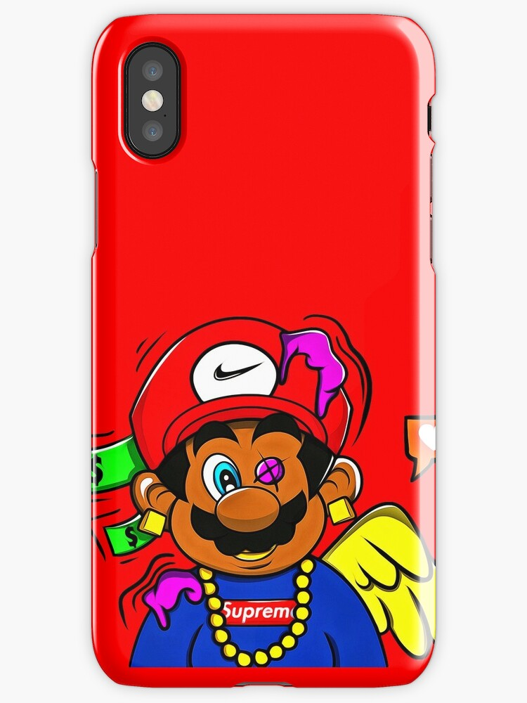 supreme mario iphone cases covers by carolynhomp. Black Bedroom Furniture Sets. Home Design Ideas