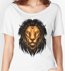 Lion Artwork Women's Relaxed Fit T-Shirt
